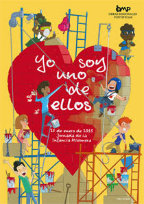 """Infancia Misionera 2015 Lema """"Yo soy uno de ellos"""""""