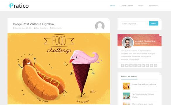 Download Pratico Clean Responsive Blogger Template Gratis
