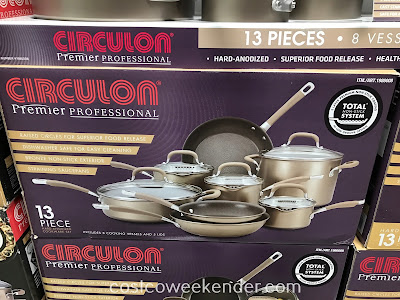 Make cooking a meal for the family easier with the Circulon 13pc Hard Anodized Cookware Set