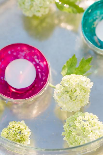 Weekendflowers, Pomponetti, Glasschale mit Blumen dekorieren