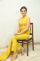 Taapsee Pannu looks mesmerizing in Yellow for her Telugu Movie Anando hma motion poster launch ~  Exclusive 039.JPG