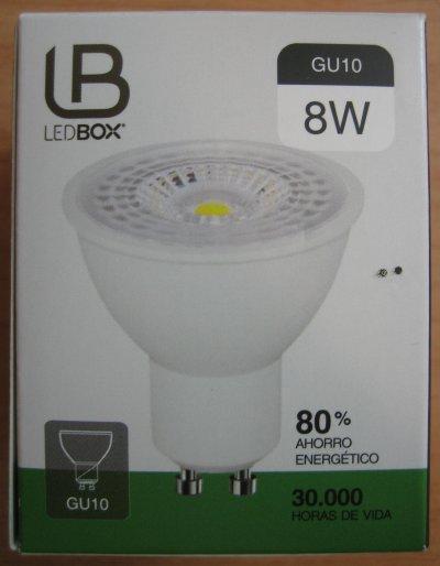Angulo de haz de 40/° 100-240V 2700K 450lm Blanco Cal/ído L/ámparas Hal/ógenas Equivalentes a 50W No regulable Boxlood 6 x 5W GU10 Bombilla LED