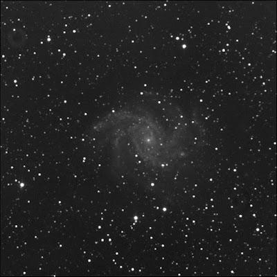 supernova SN 2017 eaw in luminance
