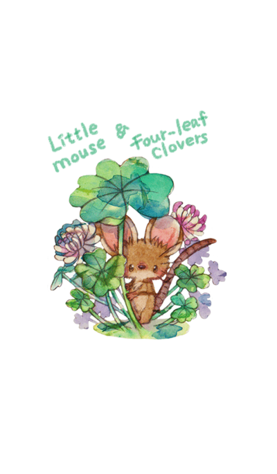 Little mouse & Four-leaf clovers