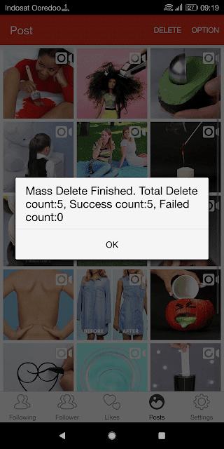 foto dan video yang dipilih berhasil dihapus