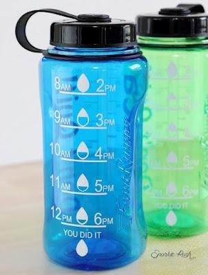 Marked water bottles