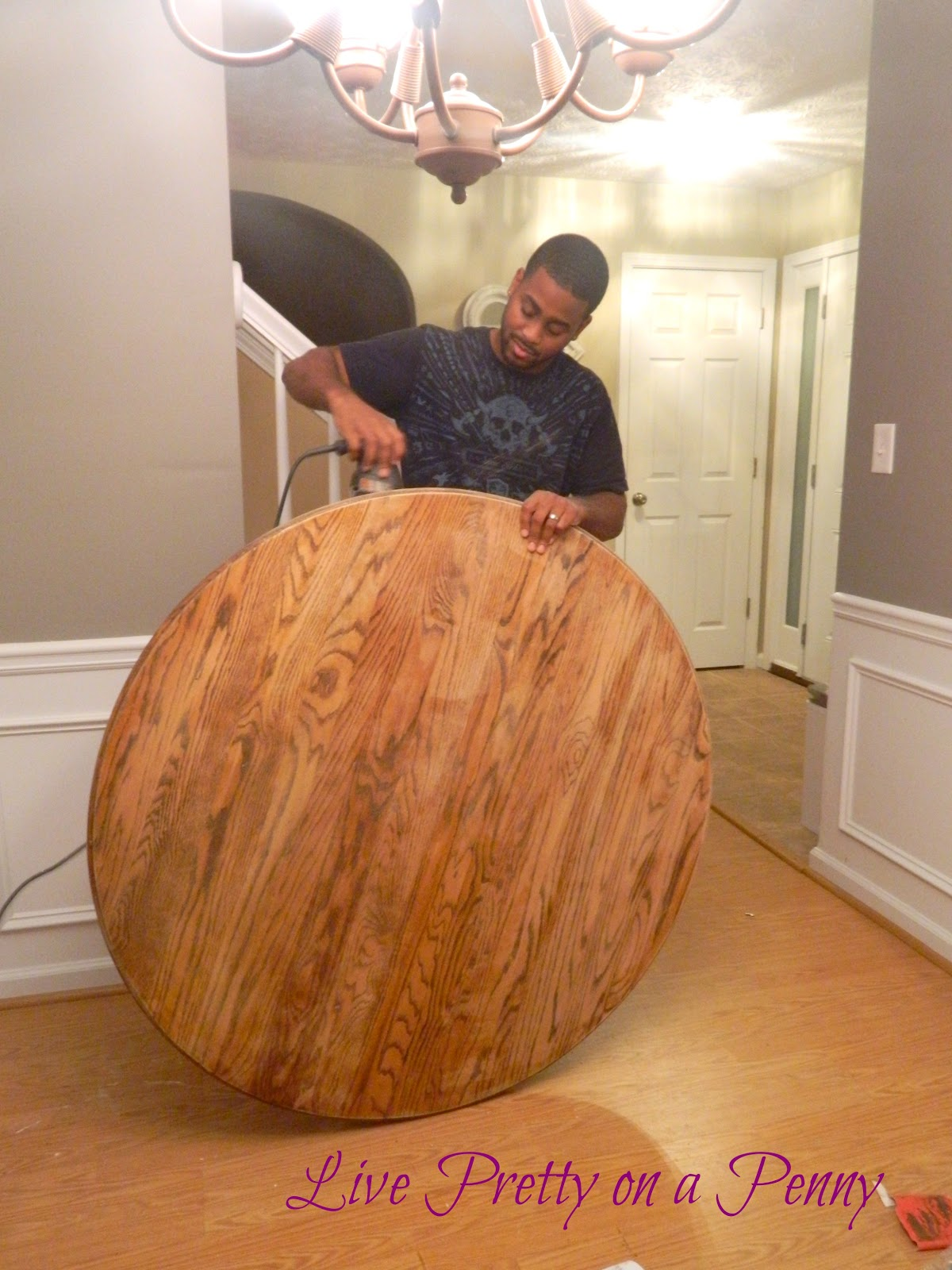 Refinishing An Oak Table A Dining Room Update Live