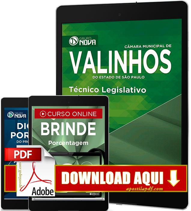 Apostila Prefeitura de Valinhos 2016 Técnico Legislativo PDF Download