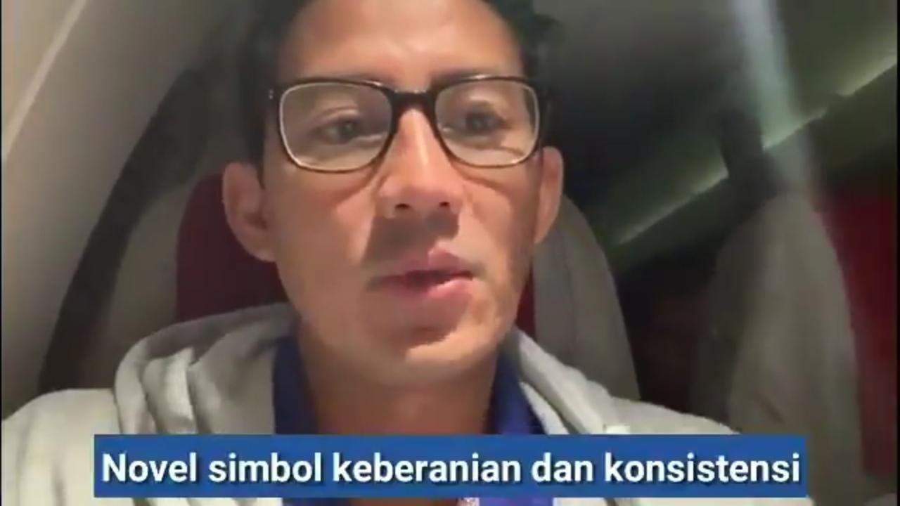 2 Tahun Teror Terhadap Novel Baswedan, Sandi Peringatkan Tegas Preasiden Jokowi