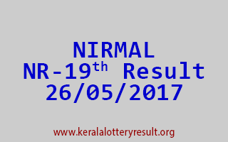 NIRMAL Lottery NR 19 Results 26-5-2017