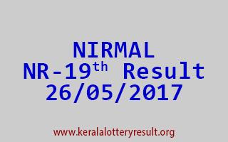 NIRMAL Lottery NR 19 Results 26-5-2017