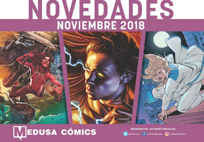 "Novedades noviembre 2018 de ""Medusa Cómics""."