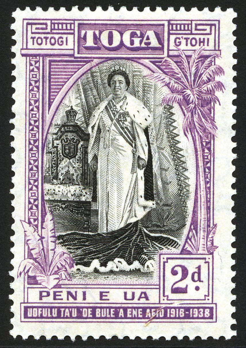 King George Vi Postage Stamps Tonga 1938 12 Oct 20th Anniv Of Queen Salote E Accession Sg71 3