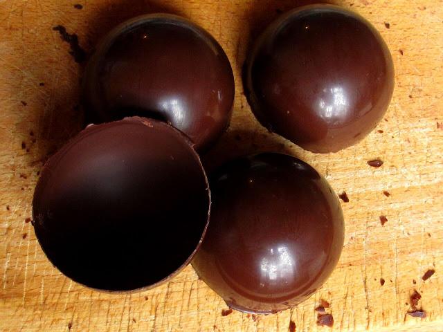 Demi-sphères en chocolat