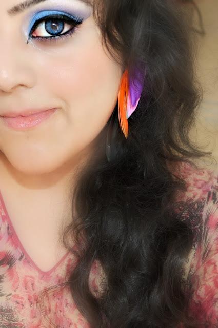 Multi-Colored Feather Ear Piece