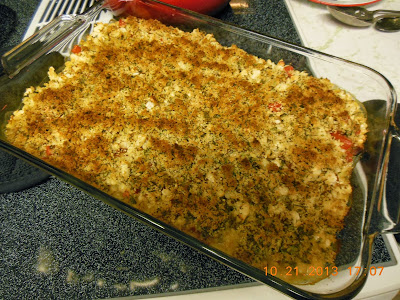 Gratin of white beans with cream and fresh tomatoes is a mild dish the whole family will enjoy.