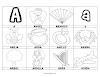Dibujos para colorear: Palabras con A