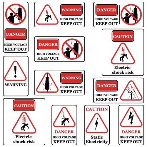 vectores de aviso de peligro