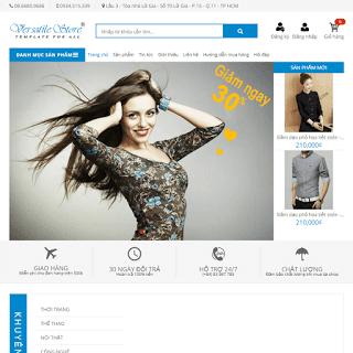 template blogspot bán hàng thời trang mỹ phẩm