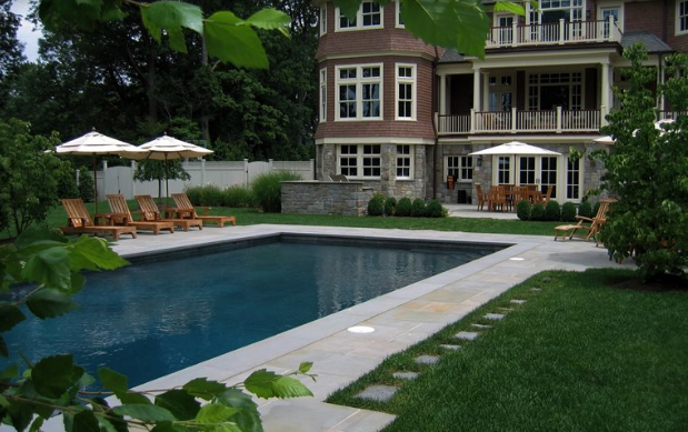 Traditional pools are usually have a classic shape such as rectangular or kidney
