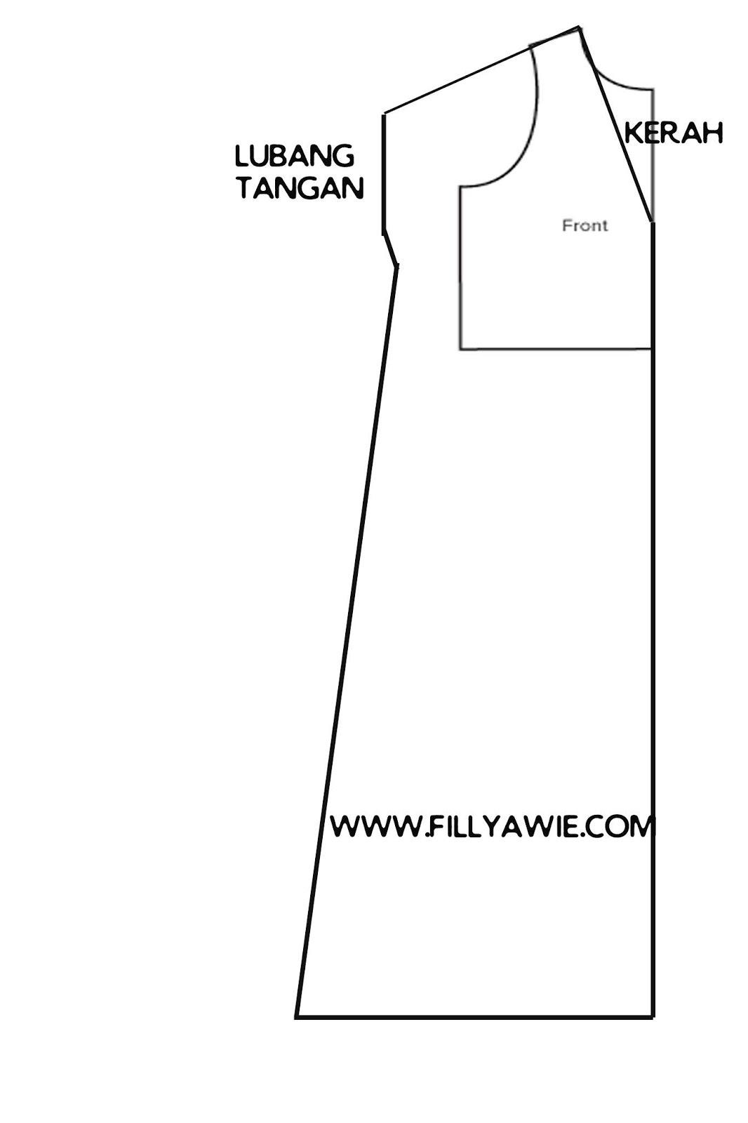 Cara Membuat Kaftan Outer Lengan Panjang (DIY Kaftan)  Fillyawie
