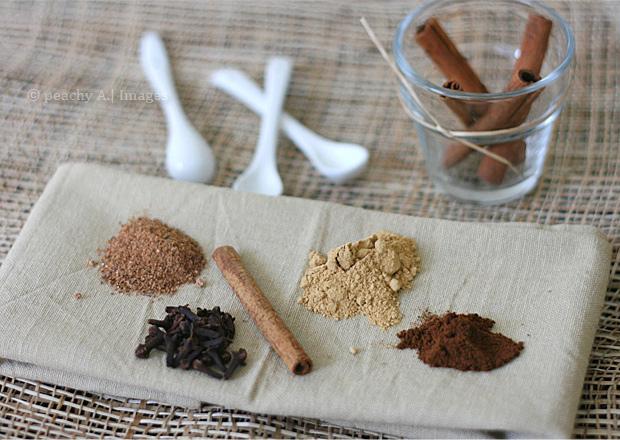 recipe for pumpkin pie spice with clove, cinnamon, ginger, nutmeg, allspice