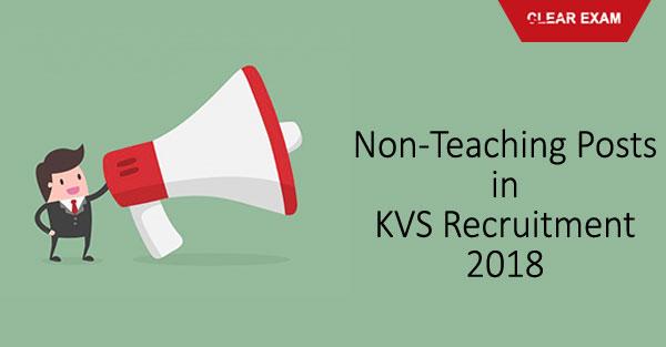 KVS Recruitment Non Teaching Posts