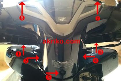 Cara Membuka Batok Kepala Vario Techno 125 FI