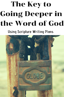 The Key to Giong Deeper in the Word of God Using Scripture Writing Plans- Why It is Beneficial to Write the Word of God-Monthly and daily scripture writing plans have really enriched my devotion time. I've listed a few to try. #scripturewritingplans #wordbeforeworld #dailyscripturewriting