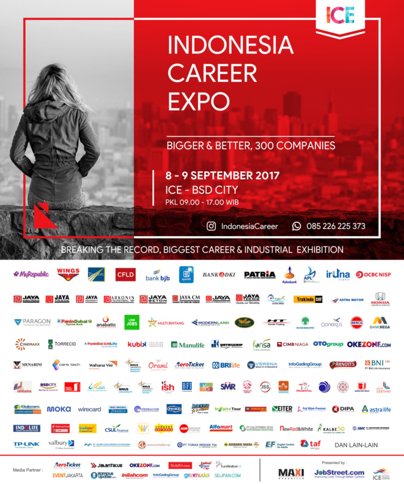 Jobfair Indonesia Career Expo 8-9 September 2017