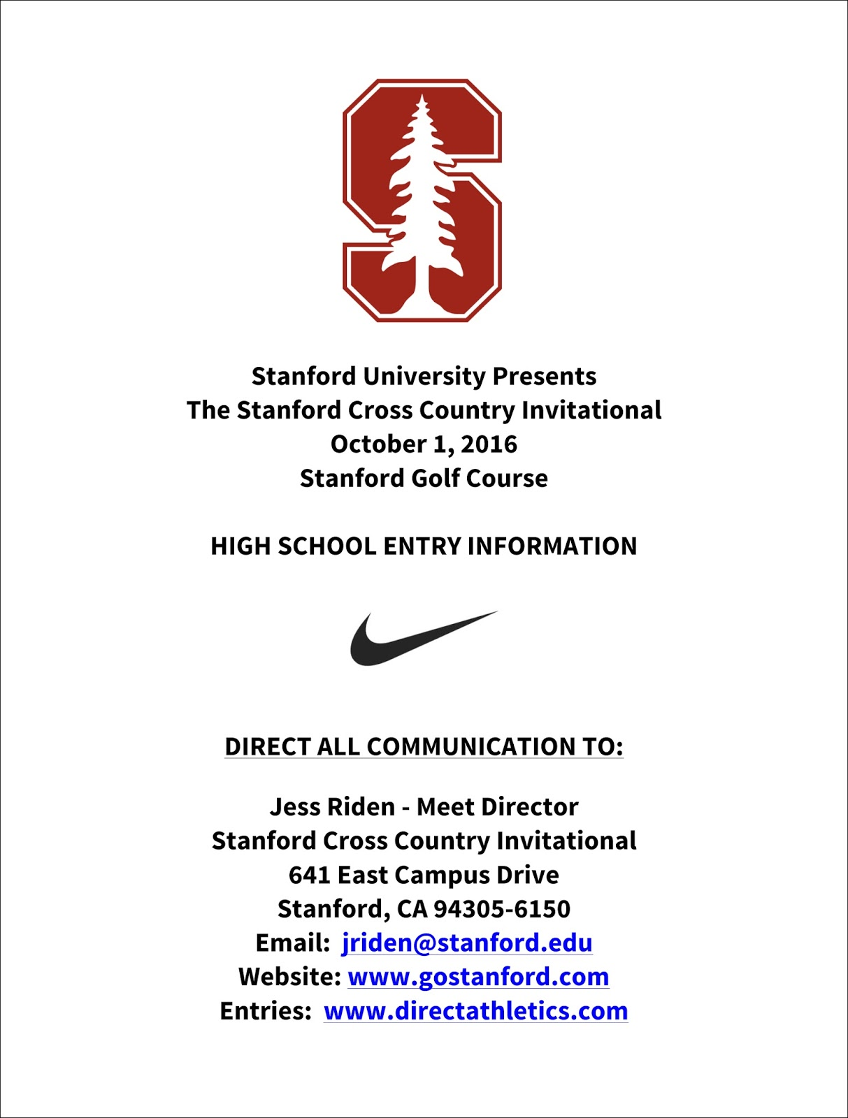 Cross Country Express 2016 Stanford Cross Country Invitational Meet