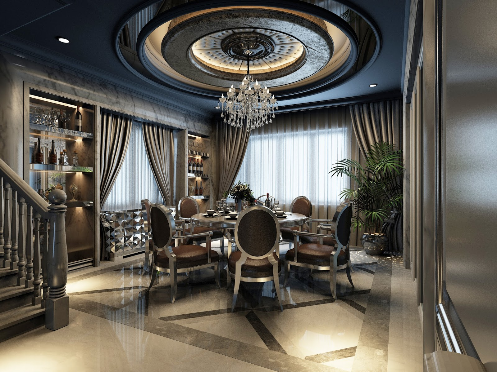 MODERN CLASSICAL DINNING ROOM INTERIOR DESIGN BY BATTE RONALD