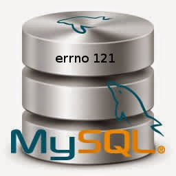 MySql can't create table errno 121