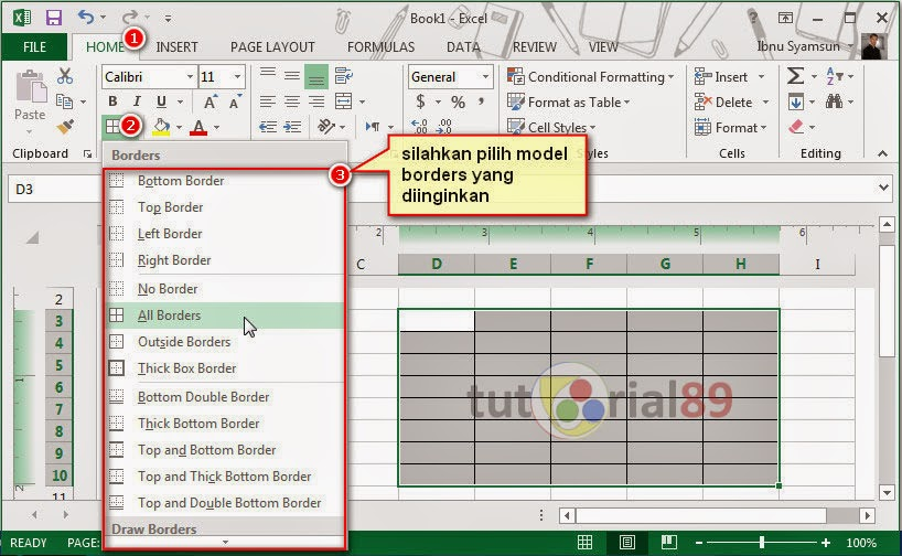 Cara Mudah Membuat Tabel Di Microsoft Excel Video Tutorial89