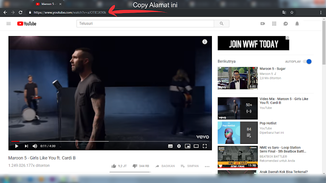 Cara Download Lagu/Video Di Youtube Tanpa Software atau Aplikasi Tambahan