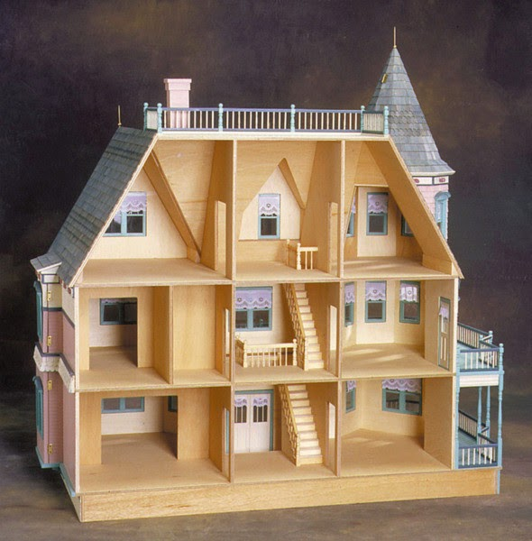 Exterior House Patterns: Little Darlings Dollhouses: Queen Anne