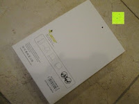 Verpackung hinten: Leicke MANNA Schutzhülle Apple iPad Air 2 braun