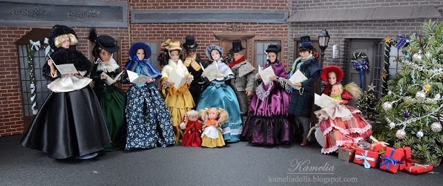 Outfits for Barbie and Ken inspired on 19th century fashion.