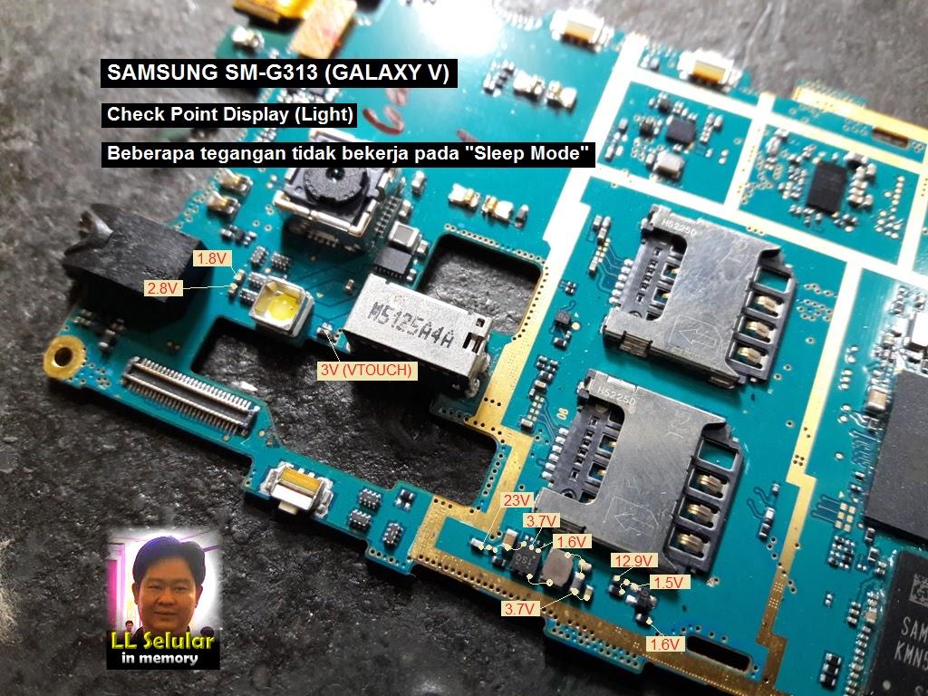 Tes Poin Jalur Display Samsung Sm-g313  Galaxy V