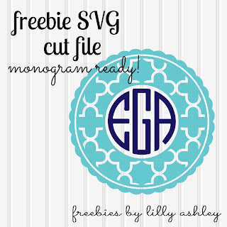 free monogram svg file for silhouette