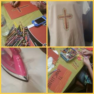 crayon tshirt art collage