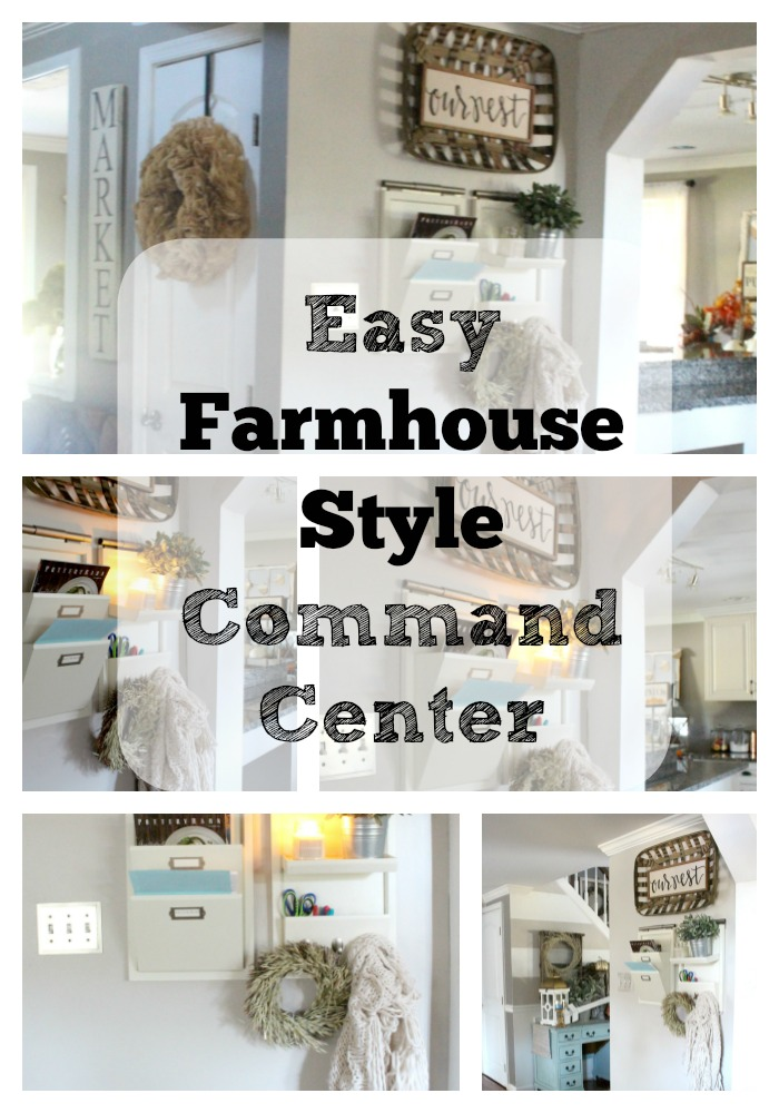 Easy Farmhouse Style Command Center The Glam Farmhouse