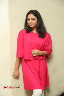 Actress Arundathi Nair Stills in Red Chididar at Bethaludu Success Meet  0065.JPG