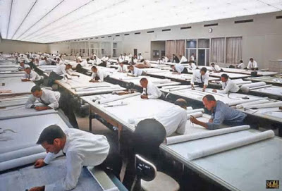 12 Awesome Vintage Photos That Show Men At Work Before AutoCAD.