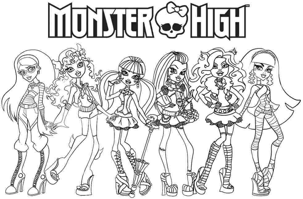 Yeni Cocuk Boyamalari En Guzel Monster High Boyamalari