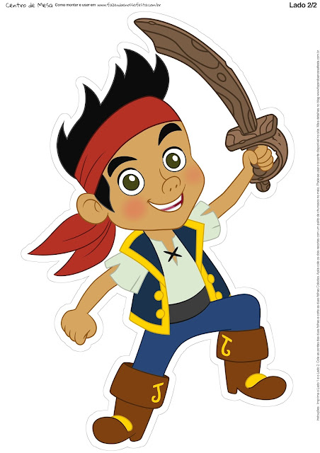 Jake and the Neverland Pirates Free Printable Centerpieces.