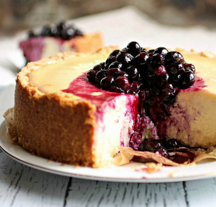 Blueberry Ricotta Cream Cheesecake