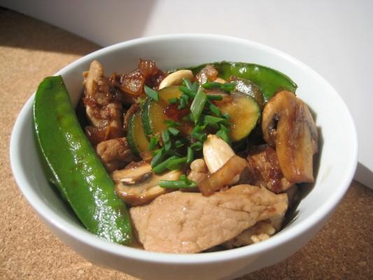 Recette Fricassée à la sauce tamari et aux amandes