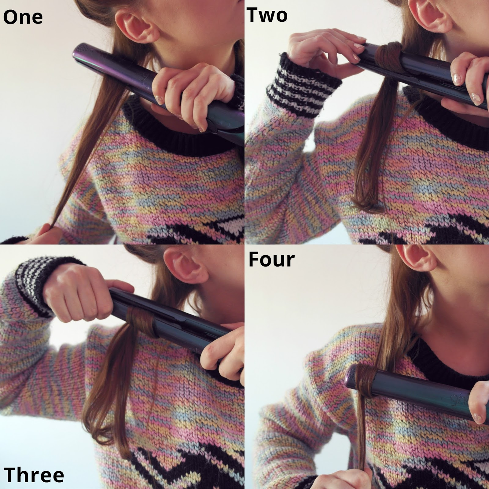 How do you curl your hair with ghd straighteners