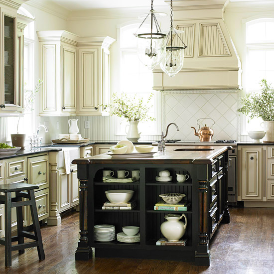 White Kitchen Cabinets With Glaze: Create Beauty: Kitchen LOVE